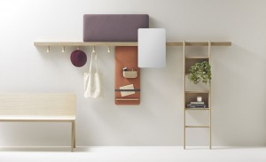 Zutik' - a flexible wall system by Jean Louis Iratzoki for Basque Country-based brand Alki