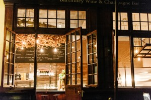 Bartinney wine bar shopfront